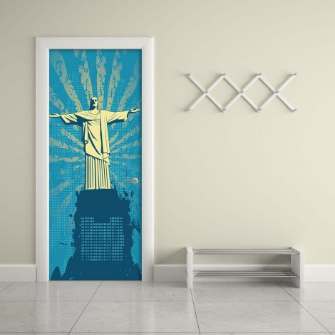 Christ the Redeemer Door Wall Sticker Contact Paper office