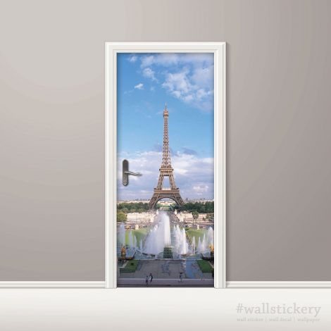 Summer Eiffel Tower Door Contact Paper Wallpaper home