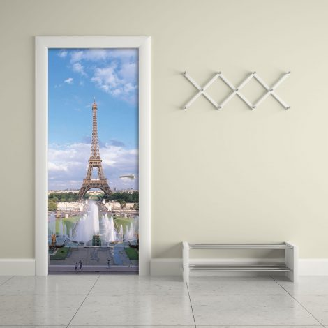 Summer Eiffel Tower Door Contact Paper Wallpaper office