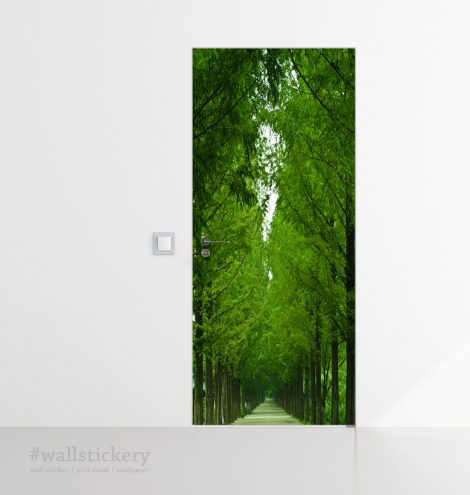 Tree-Lined Road Door Contact Paper Wall Sticker home