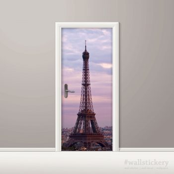 Eiffel Tower Door Contact Paper Wall Sticker home