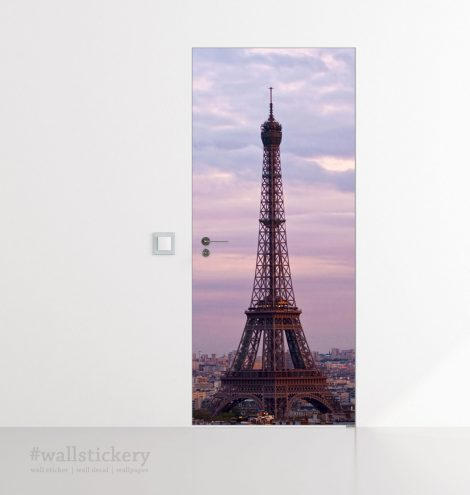 Eiffel Tower Door Contact Paper Wall Sticker office