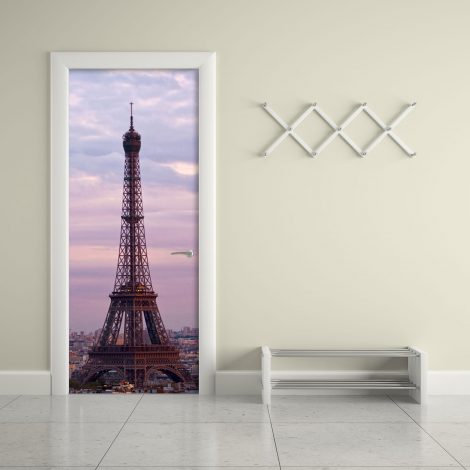 Eiffel Tower Door Contact Paper Wall Sticker living room
