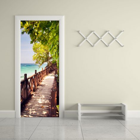Wood Bridge on The Sea Door Contact Paper office