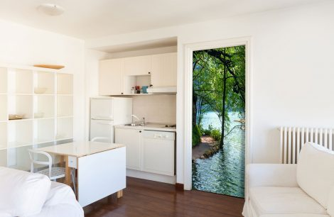 Lakeside Path Door Contact Paper Wall Sticker kitchen