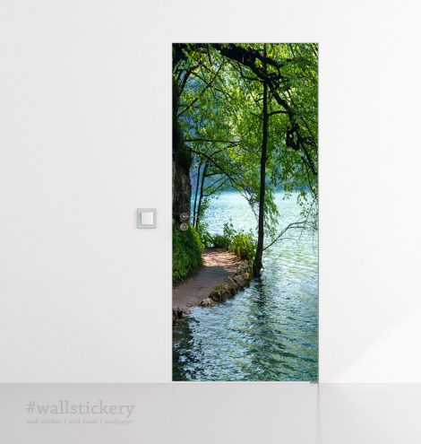 Lakeside Path Door Contact Paper Wall Sticker display