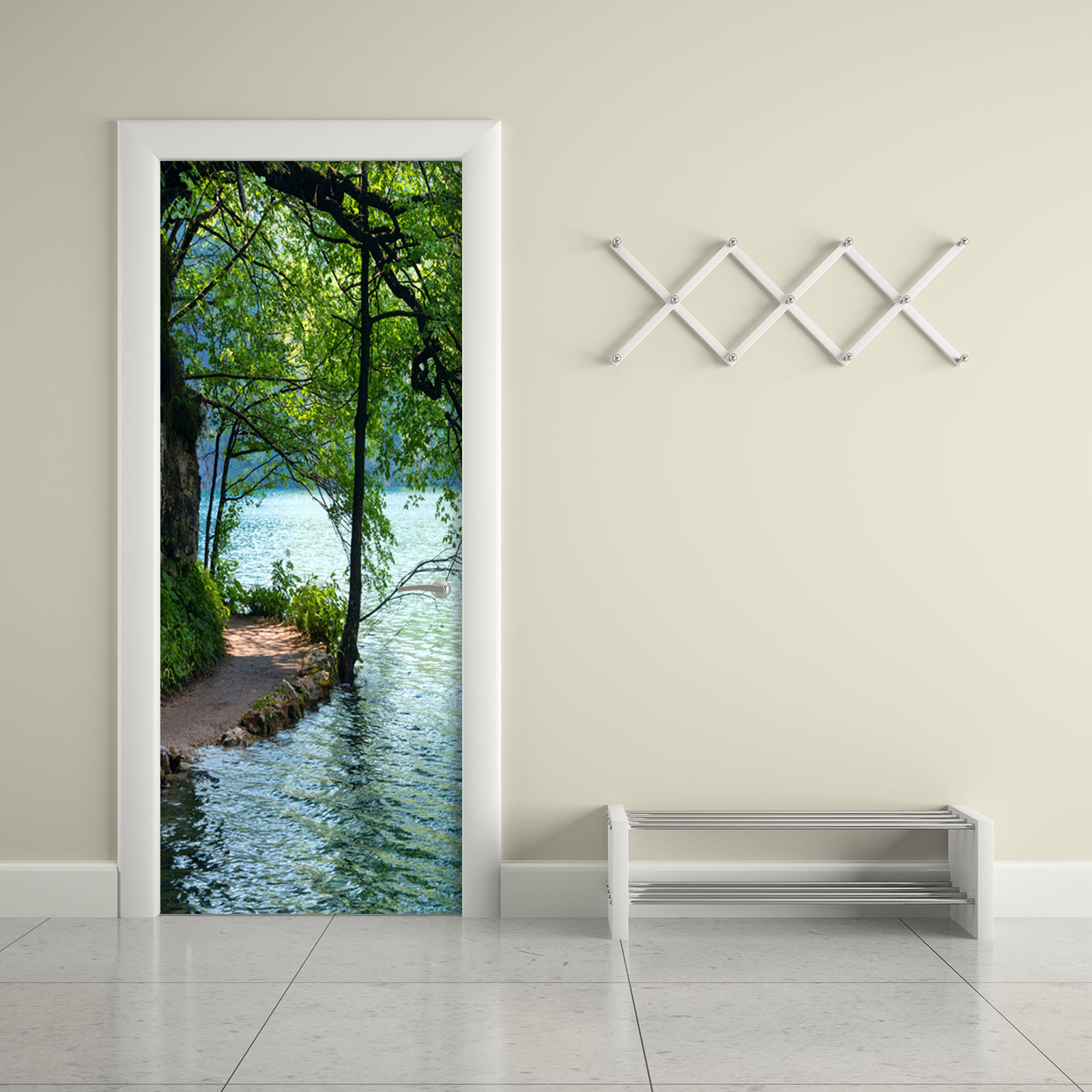 Lakeside Path Door Contact Paper Wall Sticker office & Lakeside Path Door Contact Paper Wall Sticker