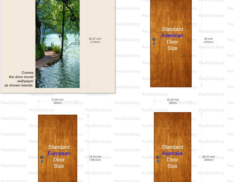 Lakeside Path Door Contact Paper Wall Sticker size  sc 1 st  wallstickery.com & Lakeside Path Door Contact Paper Wall Sticker pezcame.com