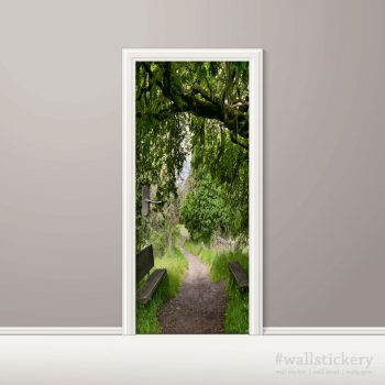 Door Contact Paper Woodland Path Wall Sticker