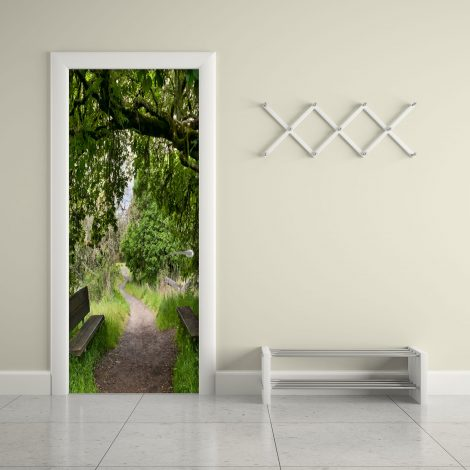 Door Contact Paper Woodland Path Wall Sticker display