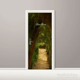 Door Contact Paper Self Adhesive Covering Woodland Path