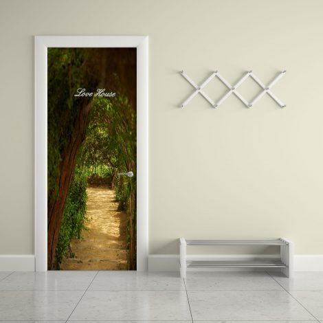 Door Contact Paper Self Adhesive Covering Woodland Path living room