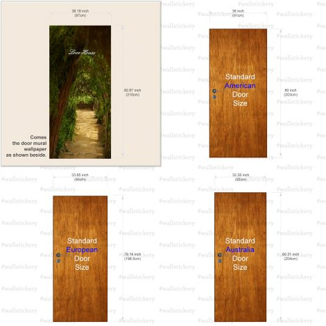 Door Contact Paper Self Adhesive Covering Woodland Path information