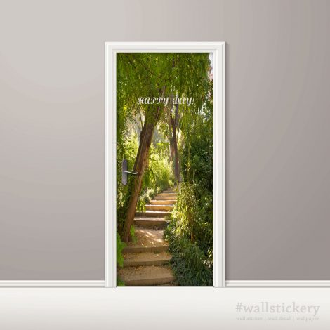 Door Wall Sticker Contact Paper Self Adhesive Wallpaper Garden Stair
