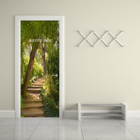 Door Wall Sticker Contact Paper Self Adhesive Wallpaper Garden Stair dining room