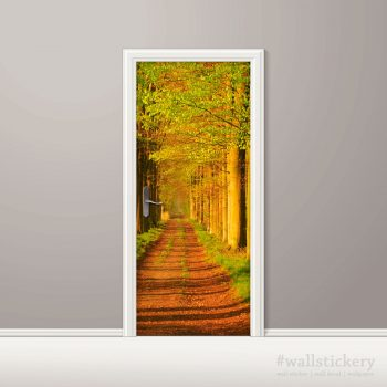 Door Contact Paper Self Adhesive Wallpaper Avenues of Sturdy Trees