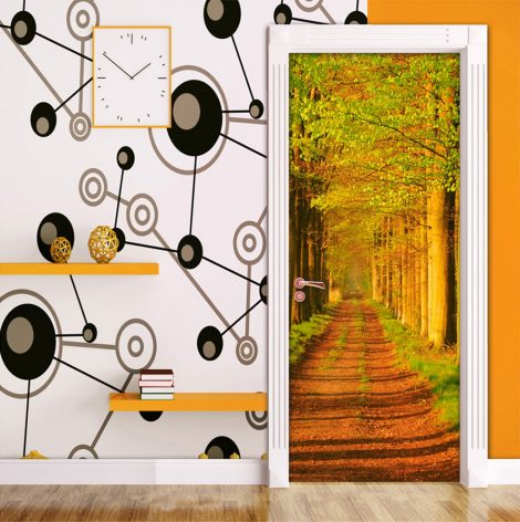 Door Contact Paper Self Adhesive Wallpaper Avenues of Sturdy Trees display