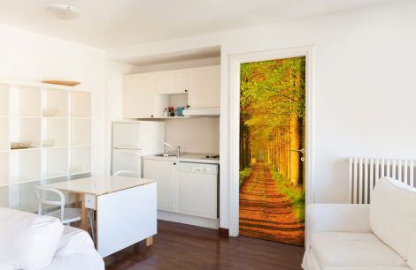 Door Contact Paper Self Adhesive Wallpaper Avenues of Sturdy Trees kitchen