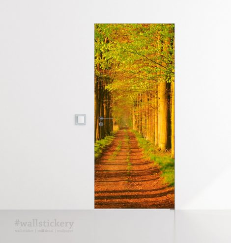 Door Contact Paper Self Adhesive Wallpaper Avenues of Sturdy Trees bed room