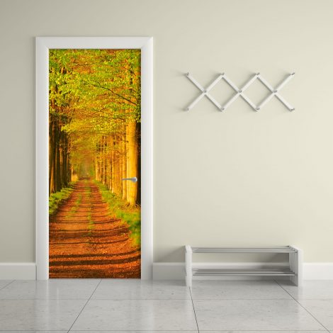 Door Contact Paper Self Adhesive Wallpaper Avenues of Sturdy Trees living room
