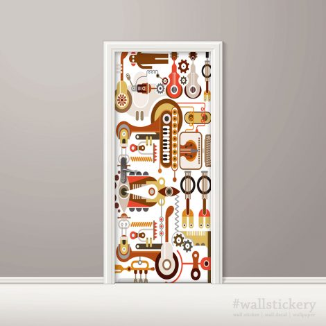 Peel Stick Door Contact Paper Music Instrument Lab