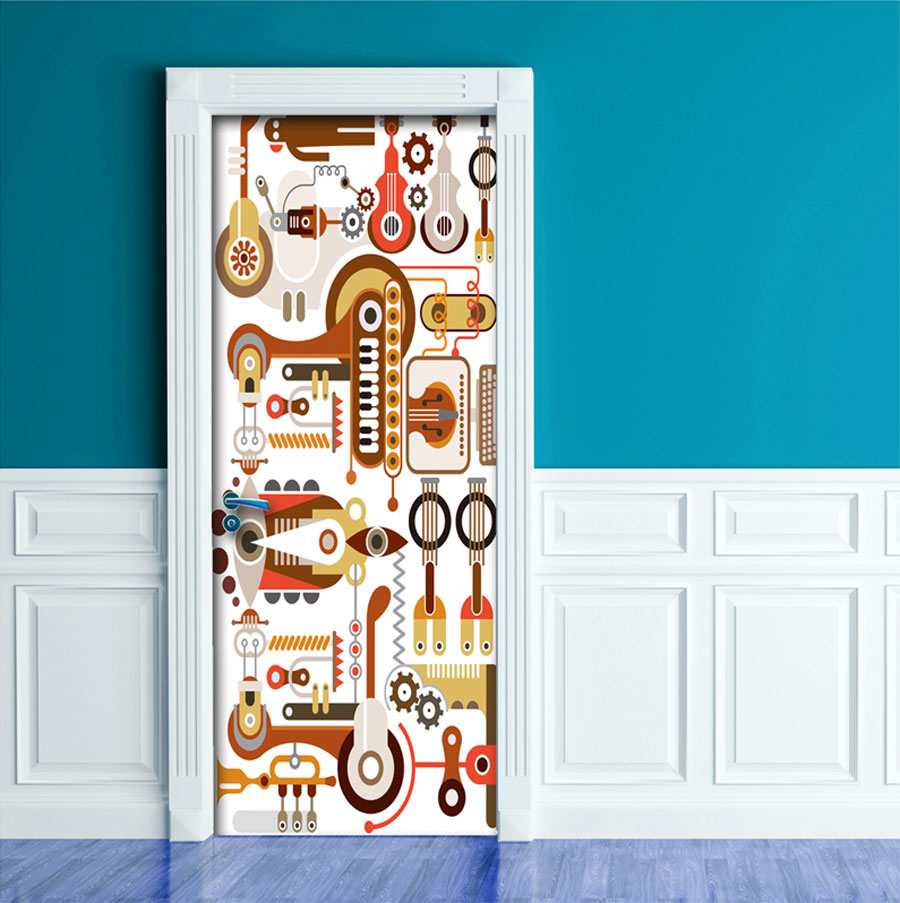 Peel Stick Door Contact Paper Music Instrument Lab office