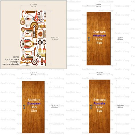 Peel Stick Door Contact Paper Music Instrument Lab Size Information
