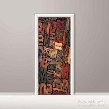 Door Contact Paper Self Adhesive Carved Wood Letters