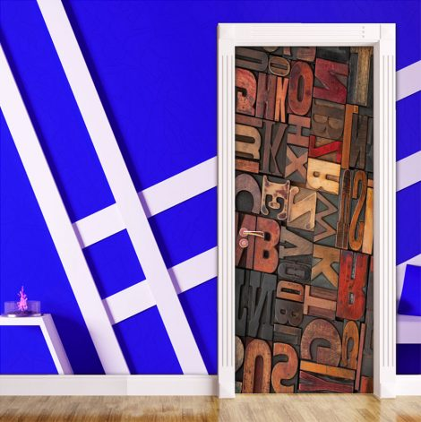 Door Contact Paper Self Adhesive Carved Wood Letters Application