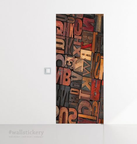 Door Contact Paper Self Adhesive Carved Wood Letters Bed Room
