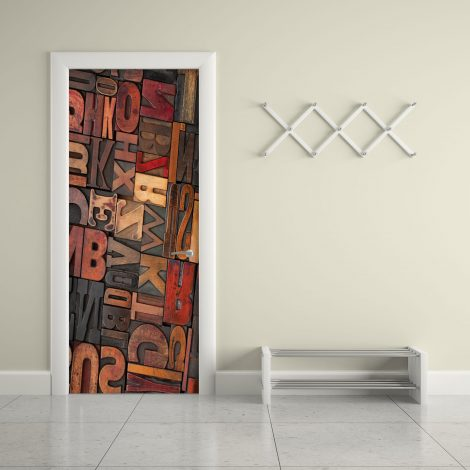 Door Contact Paper Self Adhesive Carved Wood Letters Office