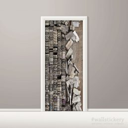 Door Contact Paper Peel Stick Wallpaper Faux Lithography apllication