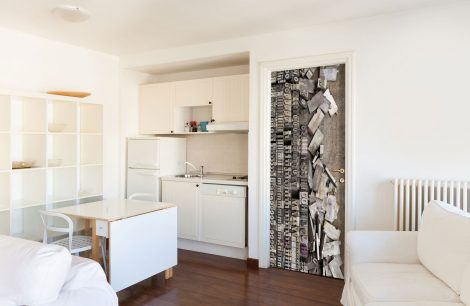 Door Contact Paper Peel Stick Wallpaper Faux Lithography kitchen