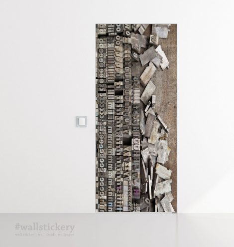 Door Contact Paper Peel Stick Wallpaper Faux Lithography office