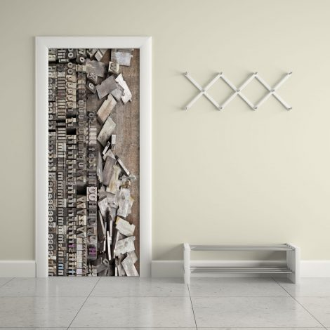 Door Contact Paper Peel Stick Wallpaper Faux Lithography living room