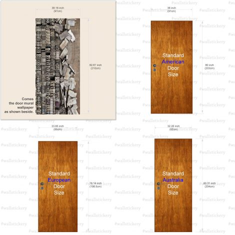 Door Contact Paper Peel Stick Wallpaper Faux Lithography Size information