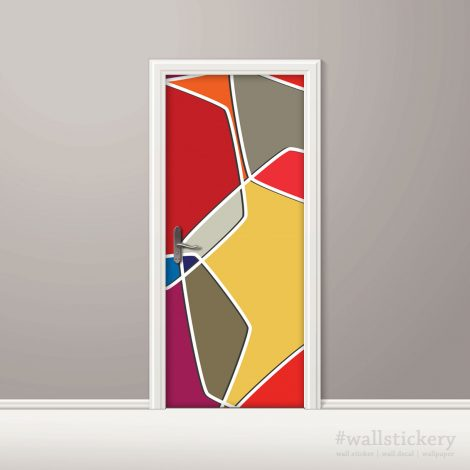 Color Composition Door Contact Paper Peel Stick Covering