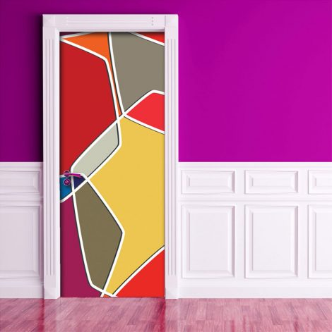 Color Composition Door Contact Paper Peel Stick Covering Office