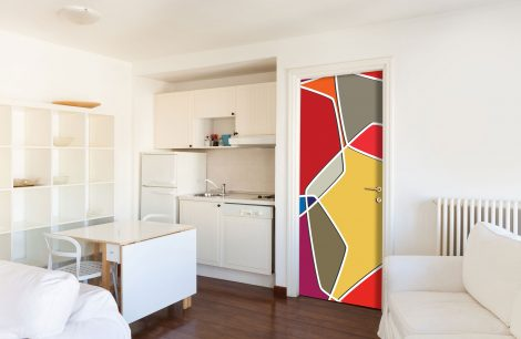 Color Composition Door Contact Paper Peel Stick Covering Kitchen