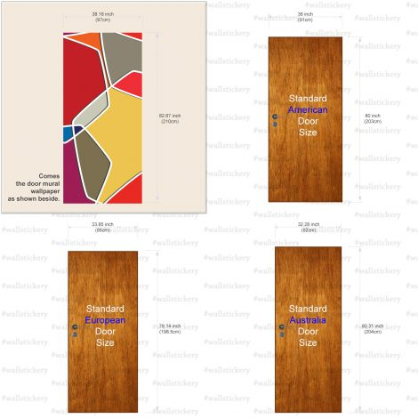 Color Composition Door Contact Paper Peel Stick Covering Size Information