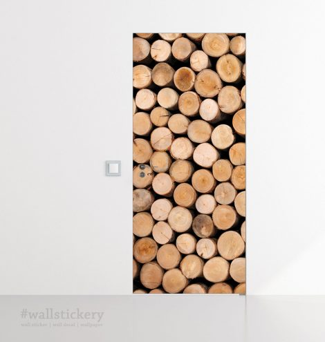Stacked Log Door Contact Paper Peel Stick Covering Paper