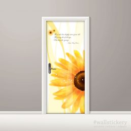 Sunflower Door Contact Paper Self Adhesive Peel Stick Study Room
