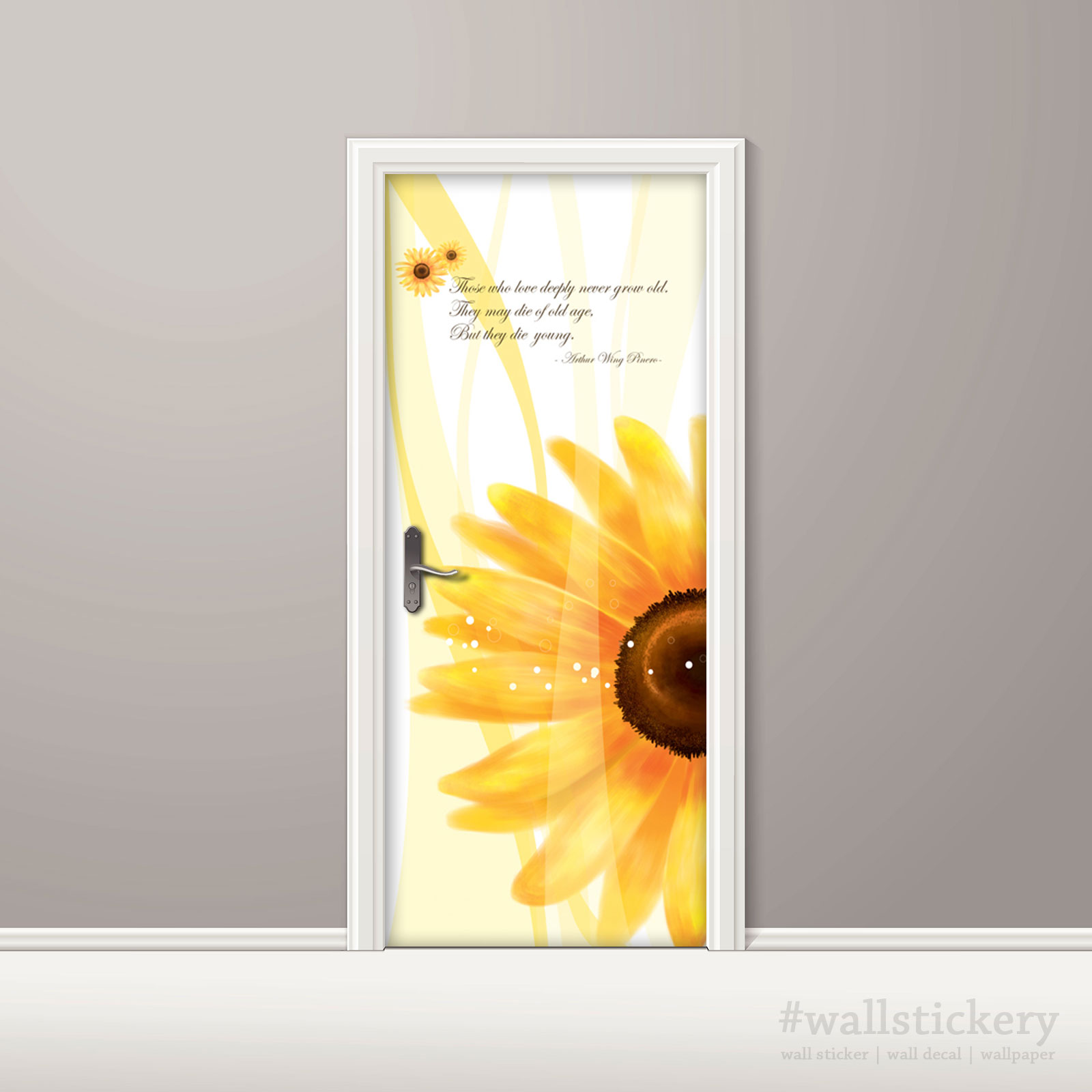 Sunflower Door Contact Paper Self Adhesive Peel Stick
