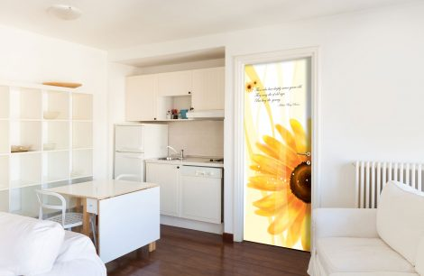 Sunflower Door Contact Paper Self Adhesive Peel Stick Kitchen