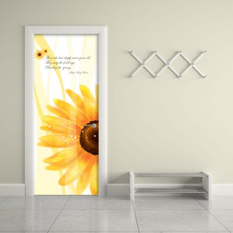 Sunflower Door Contact Paper Self Adhesive Peel Stick Office