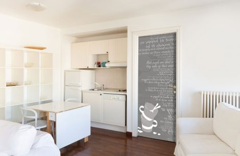Gray Cups Typography Door Contact Paper Peel Stick Kitchen
